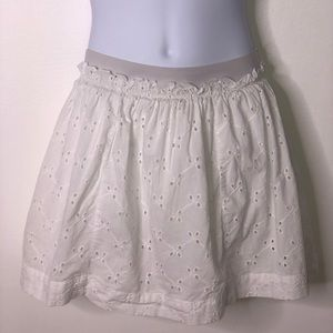 Lands end girls white eyelet skirt built n shorts